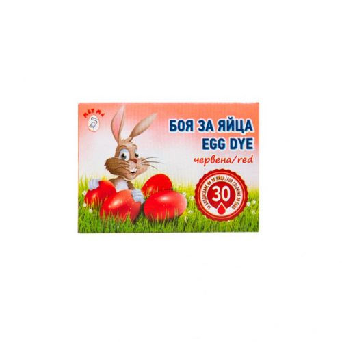 Easter egg dye red